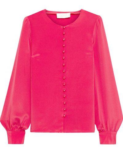 Розовая шелковая блузка с манжетами Goat