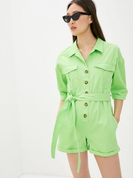 Комбинезон с шортами зеленый By Swan