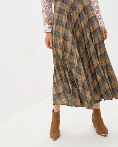 Плиссированная юбка осенняя Mango
