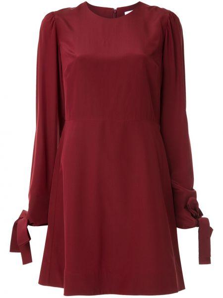 Платье макси с длинными рукавами - красное Ck Calvin Klein