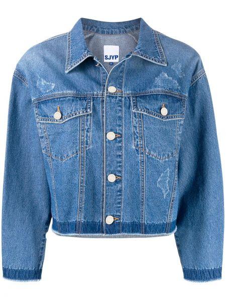 Синяя джинсовая куртка Sjyp