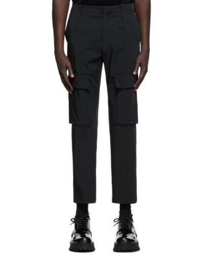Сатиновые брючные черные брюки с поясом Wooyoungmi