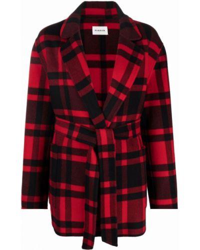Красное пальто длинное P.a.r.o.s.h.