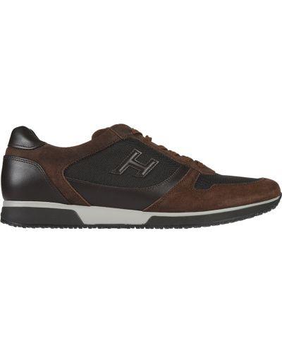 Кожаные кроссовки - коричневые Hogan