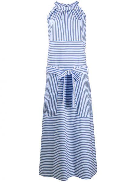 Синее платье без рукавов с вырезом круглое Jejia