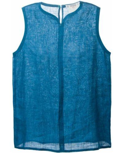 Льняная блузка - синяя Yves Saint Laurent Vintage
