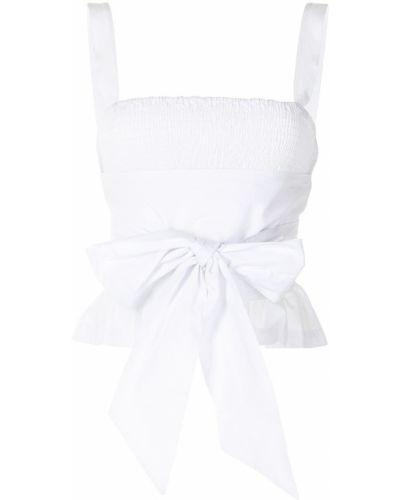 Biały top bez rękawów bawełniany Ciao Lucia