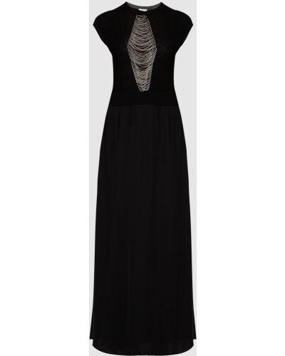 Черное платье макси Peserico