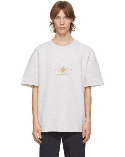 Хлопковая футболка с воротником с вышивкой Han Kjøbenhavn