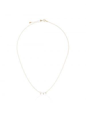 Biały złoty naszyjnik z diamentem Persée