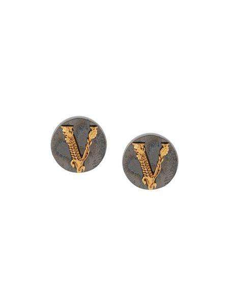 Kolczyki złoto z logo Versace