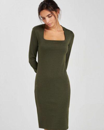 Зеленое платье-футляр Terranova