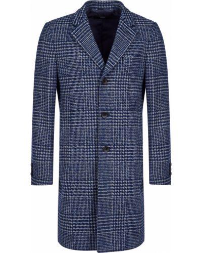 Пальто из альпаки - синее Hugo Boss