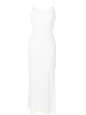 Biała sukienka długa z jedwabiu bez rękawów Dannijo