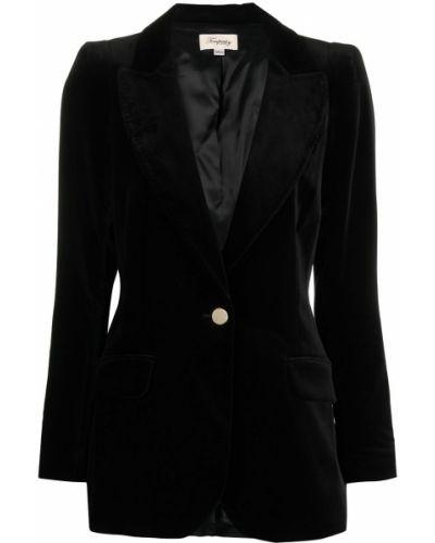 Черная длинная куртка с манжетами с подкладкой на пуговицах Temperley London