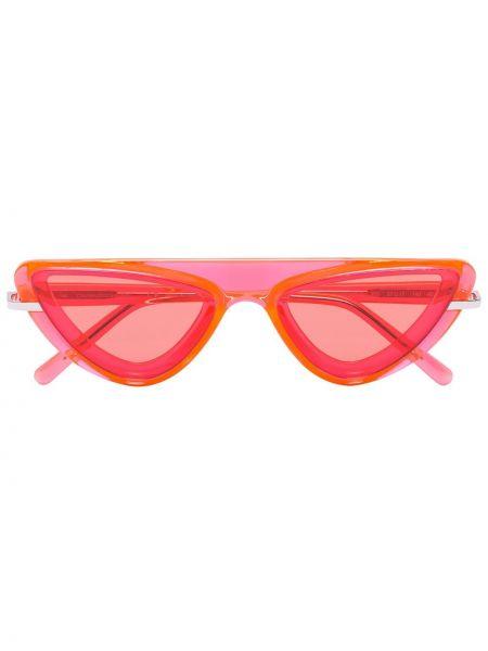 Pomarańczowe okulary z akrylu Calvin Klein 205w39nyc