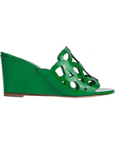 Мюли зеленый на каблуке Marino Fabiani