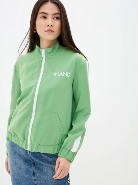 Облегченная зеленая куртка Sh