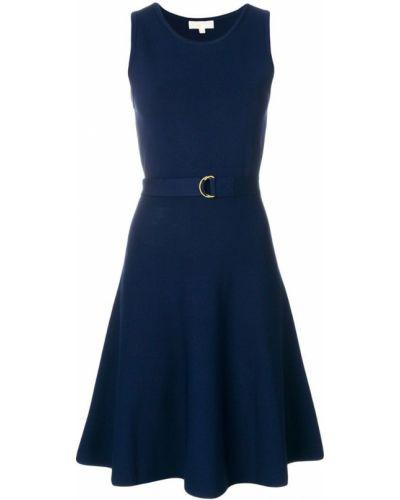 Платье с поясом с американской проймой из вискозы Michael Michael Kors