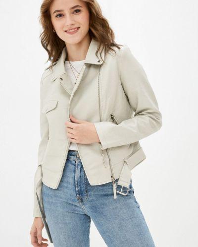 Серая кожаная куртка Softy