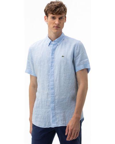 Хлопковая рубашка с подкладкой Lacoste