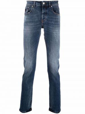 Синие джинсы с карманами John Richmond