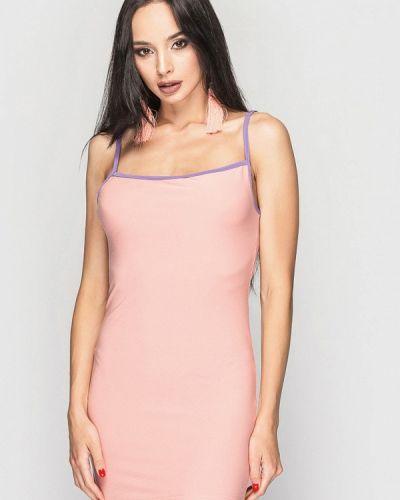 Повседневное платье весеннее розовое 0101 Brand