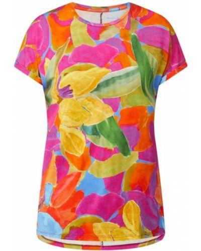 Różowa bluzka krótki rękaw z wiskozy Christian Berg Women