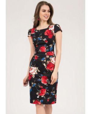 Платье миди оливковый черное Olivegrey