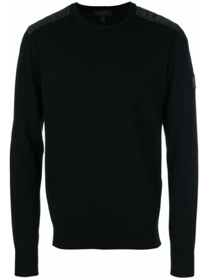 Pikowana wełniany czarny bluza Belstaff