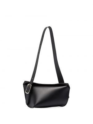 Кожаная черная кожаная сумка матовая Venczel