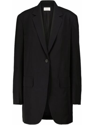 Шерстяной черный пиджак The Row