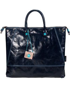 Кожаная сумка - синяя Gabs