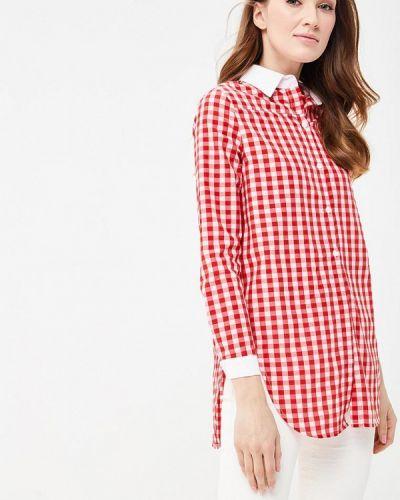 Рубашка леопардовая красный Sk-house