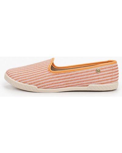 Оранжевые текстильные слипоны Moleca