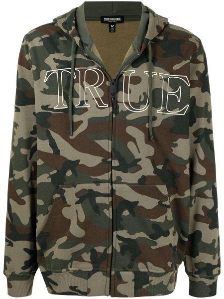 Bluza z nadrukiem z printem - brązowa True Religion