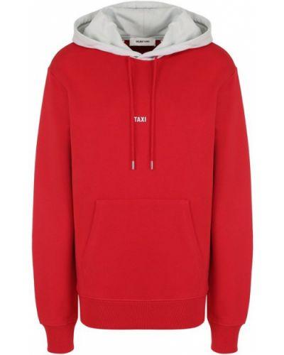 Красный свитер с капюшоном Helmut Lang