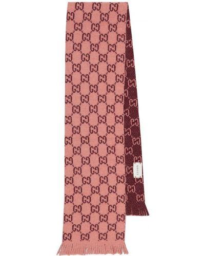 Różowy wełniany szalik Gucci Kids