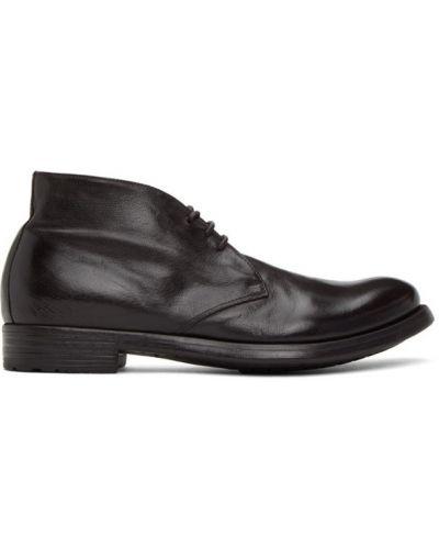 Koronkowa buty na wysokości zasznurować z prawdziwej skóry okrągły nos Officine Creative