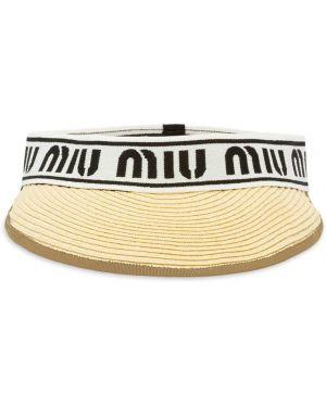 Козырек с логотипом Miu Miu