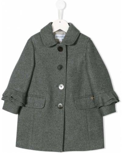 Серое кашемировое пальто классическое с воротником Simonetta