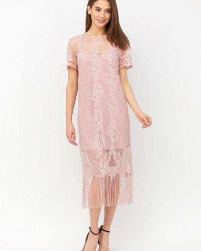 Розовое вечернее платье Ricamare