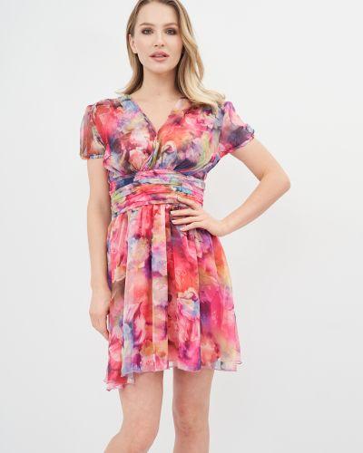 Шифоновое платье мини - розовое Niktan