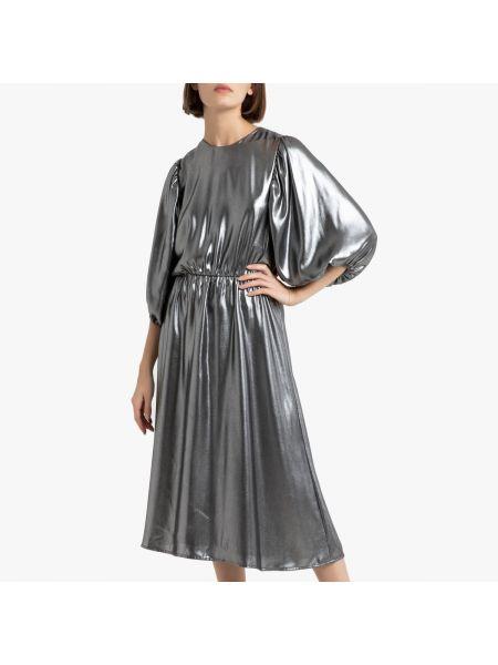 Вечернее платье миди на пуговицах La Redoute