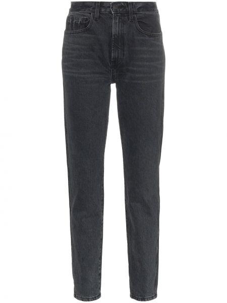 Klasyczne czarne jeansy z wysokim stanem Jordache