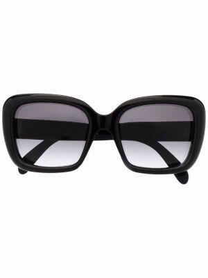 Солнцезащитные очки оверсайз - черные Celine Eyewear