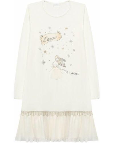 Бежевая рубашка La Perla
