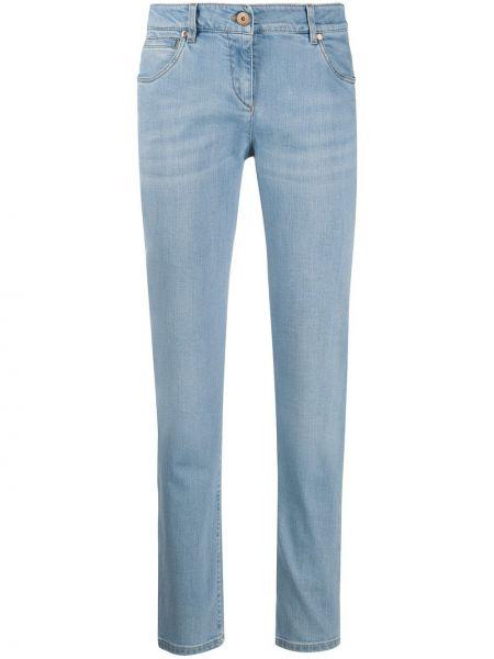Jeansy o prostym kroju niebieskie niska Brunello Cucinelli