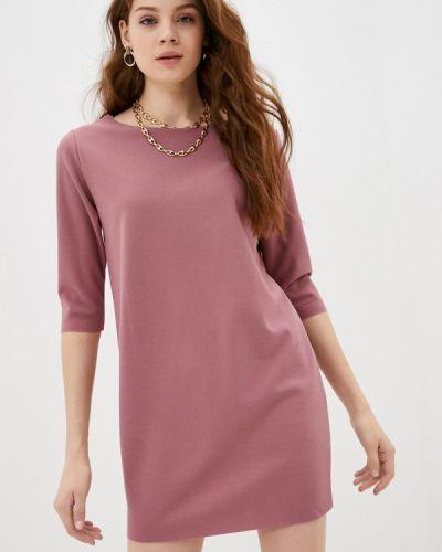 Прямое розовое платье Please