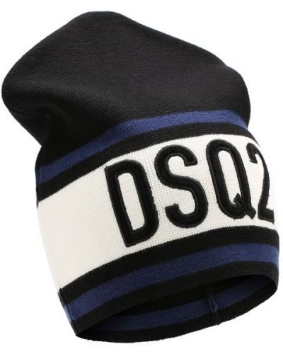 Белая шапка шерстяная Dsquared2